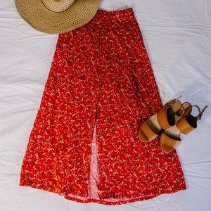 Vintage 90's Split Button Skirt